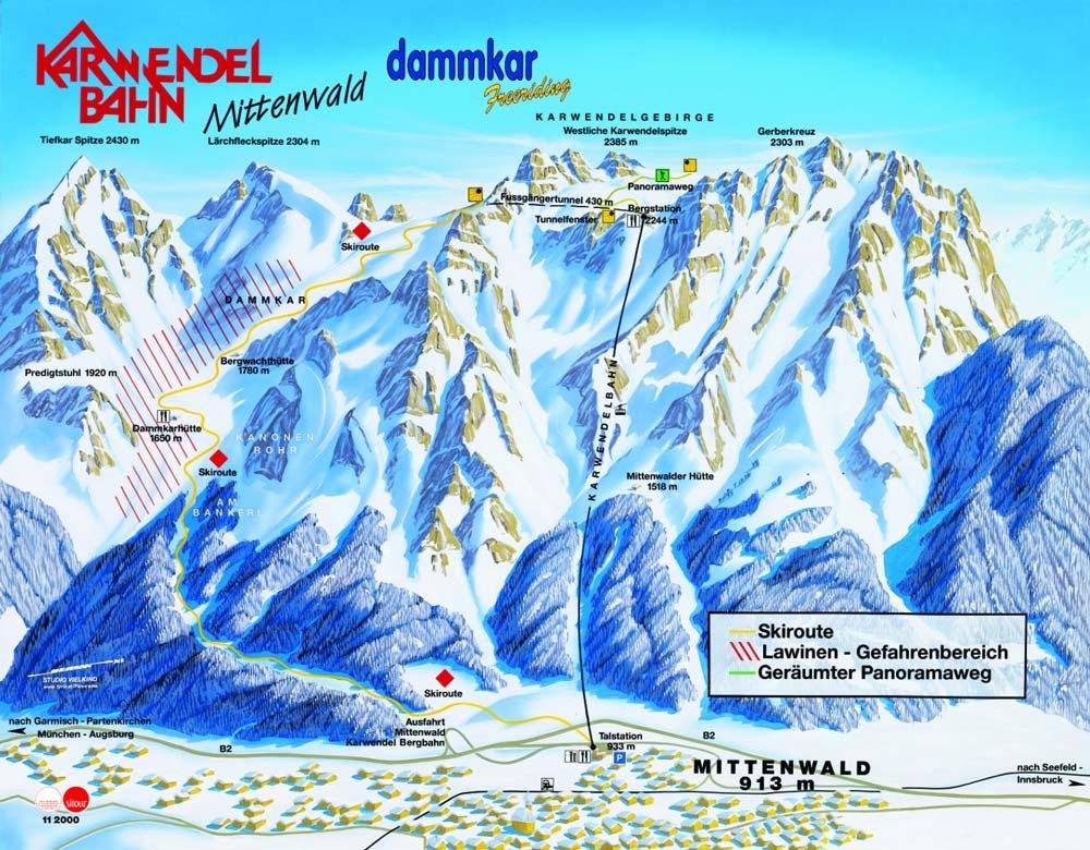 Mittenwald Dammkar Ski Resort Winter Holiday Winter