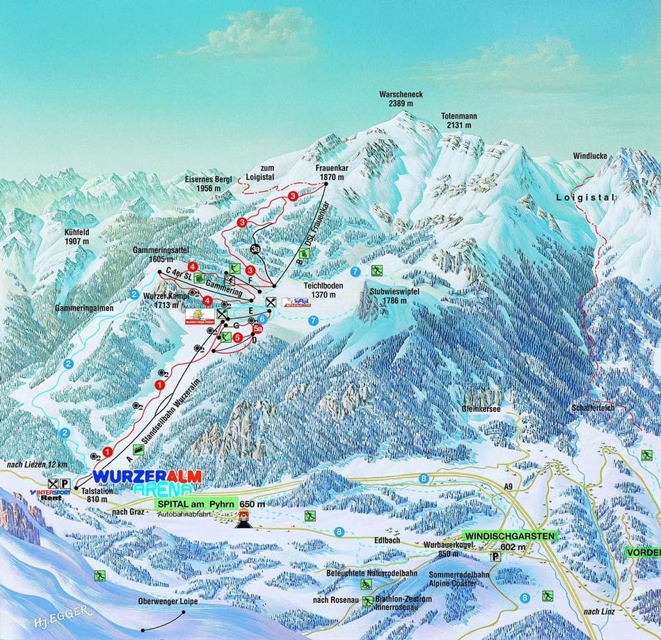 Wurzeralm Skigebiet