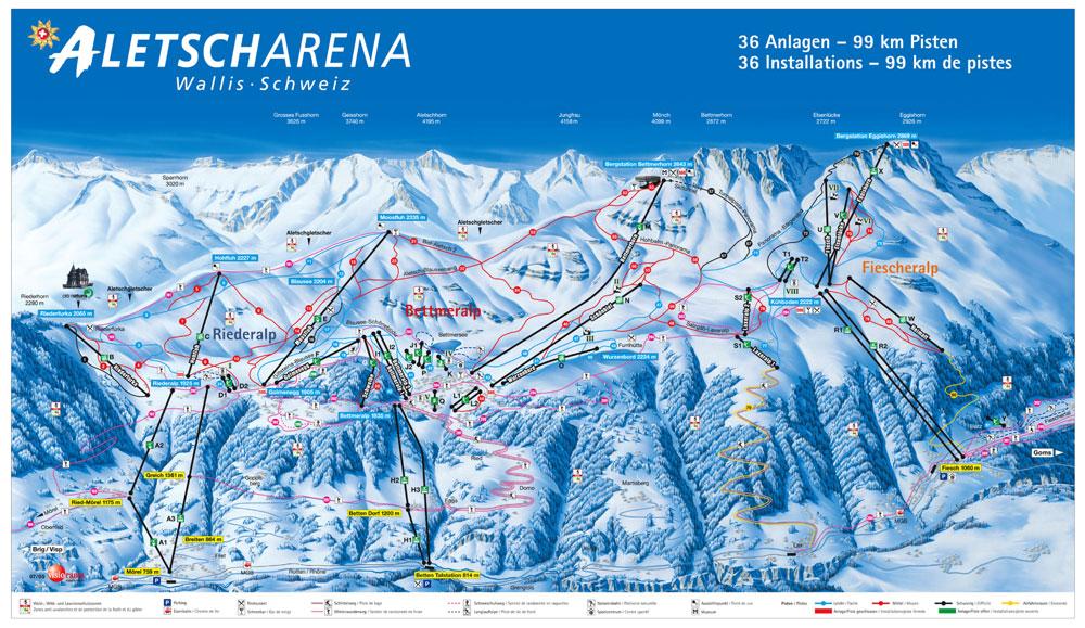 Aletscharena Skiing Holiday Winter Holiday Winter Sport