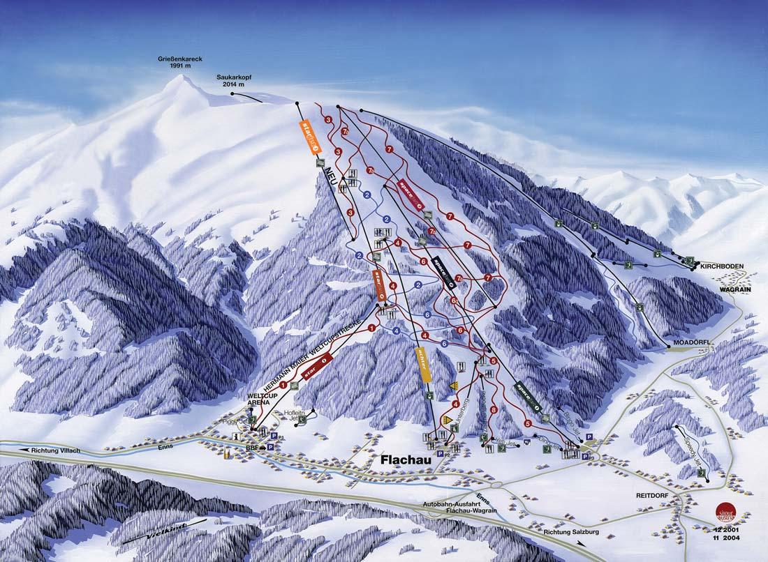 Flachau Wintersport Skivakantie Skiën Skigebied