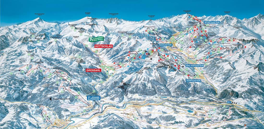 Großarltal Skiurlaub Wintersport Skifahren Skigebiet