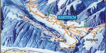 Ski Resort Dorfberglift / Kanterlift - Kartitsch