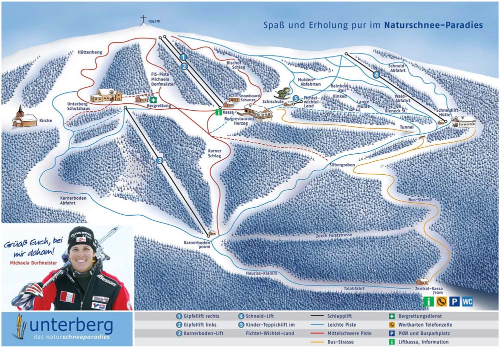 Unterberg Ski Resort Winter Sports Skiing